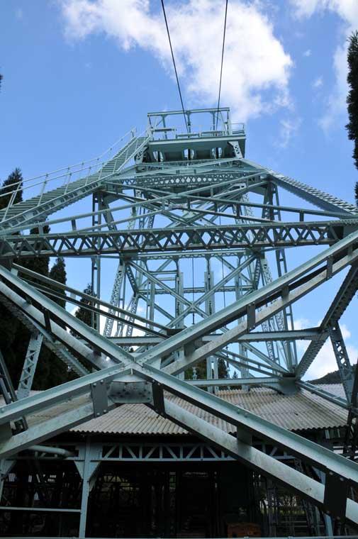 日立鉱山第一縦坑櫓