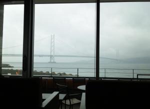 明石海峡大橋 雨