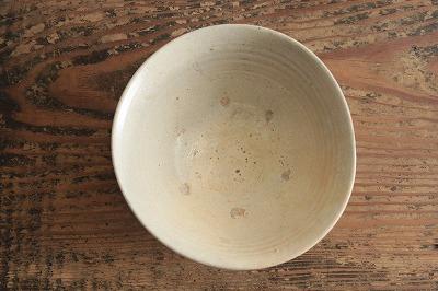 李朝初期無地刷毛目茶碗