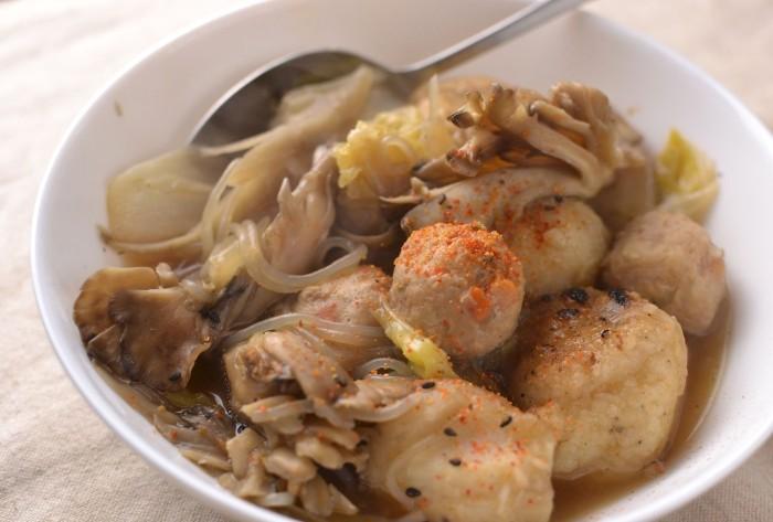 鶏団子とだまこ餅の鍋