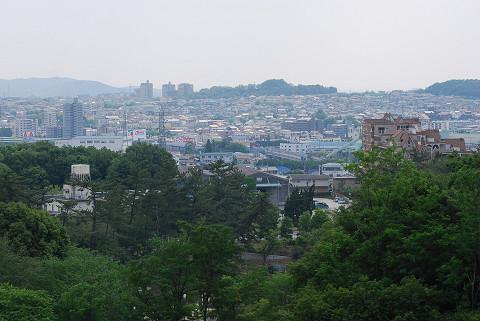 お墓から見た岡崎の街