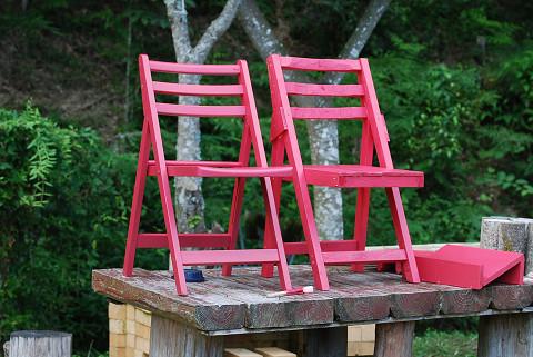 作った椅子