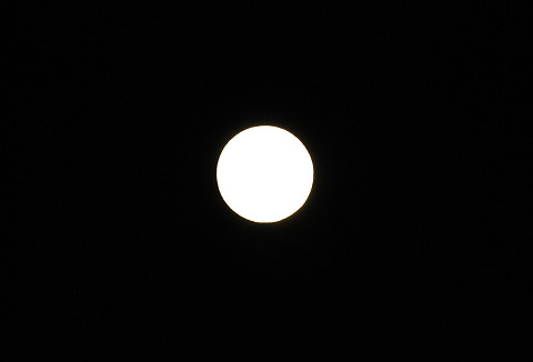 満月が美しい