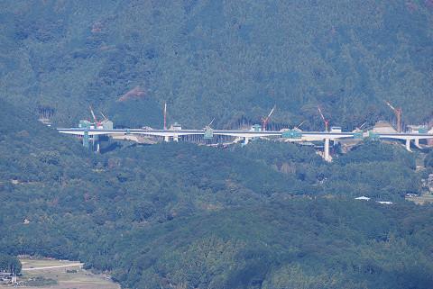山頂から新東名工事