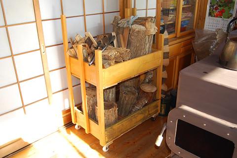 コロつき薪置き台