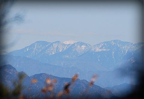 巴山から富士山が見えた