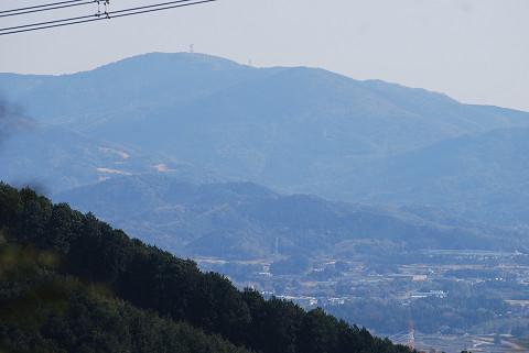 富幕山が見えた