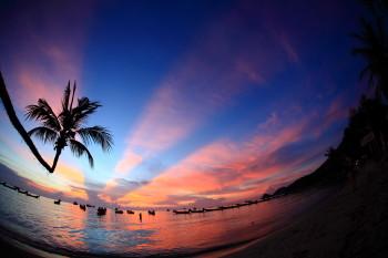 サイリービーチ、夕焼け