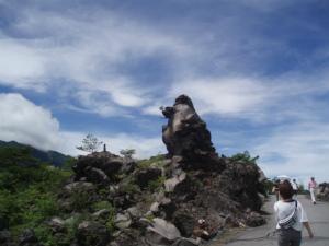 ゴリラ岩?