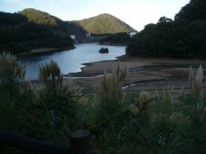 伊東のダム湖