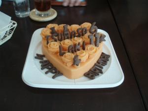 ラニとツバサのバースデーケーキ