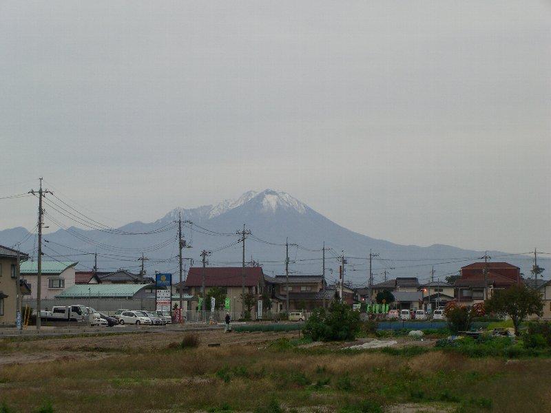 冠雪の大山