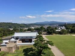 金沢城からの風景。