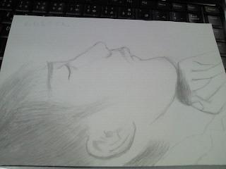 大さんの寝顔
