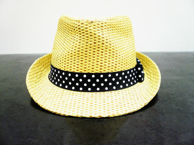 INTERFACE DOT RIBBON STRAW HAT