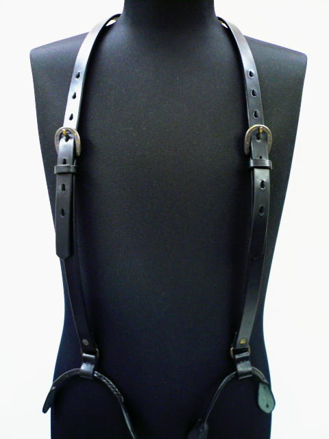 GANGSTERVILLE G.V.LEATHER SUSPENDER