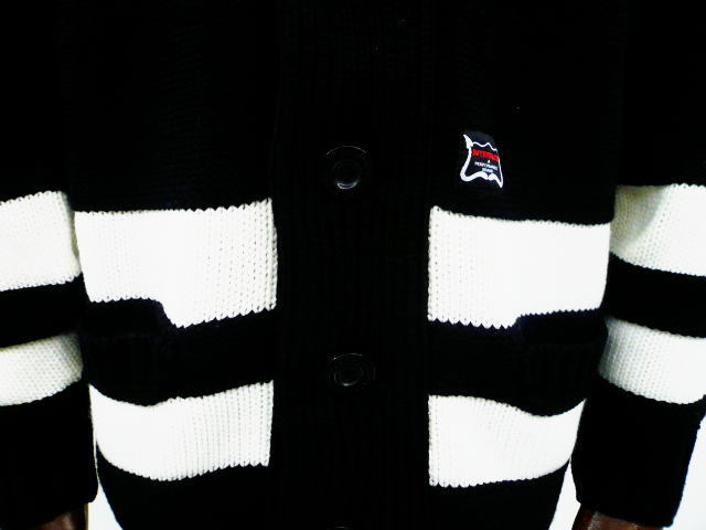 INTERFACE BORDER KNIT CARDIGAN