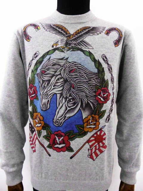 SOFTMACHINE PHARAOH HORSES SWEATER