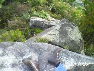 小八畳岩から下を見る