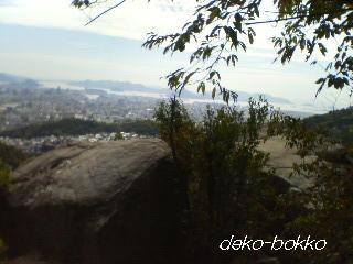 ふたごの大岩からの景色