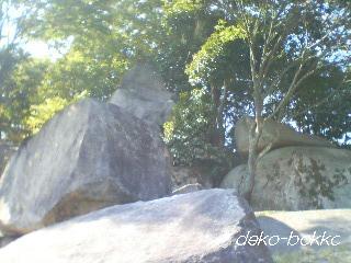 武田山山頂。。。岩だらけ