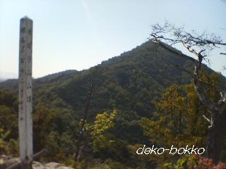 カガラ山山頂より武田山をみる