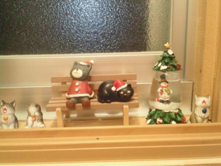 クリスマスの窓辺
