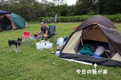 我が家のキャンプ風景