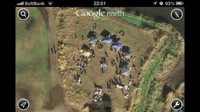Google Earth の篠崎いぬ親会