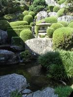 綺麗にお手入れされた庭園