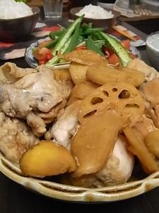 栗と鶏肉の煮物