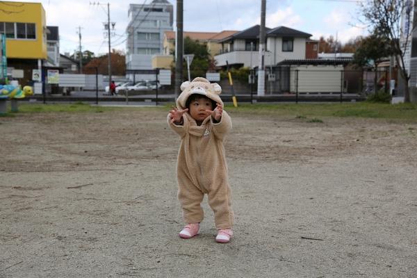 優、公園で遊ぶ