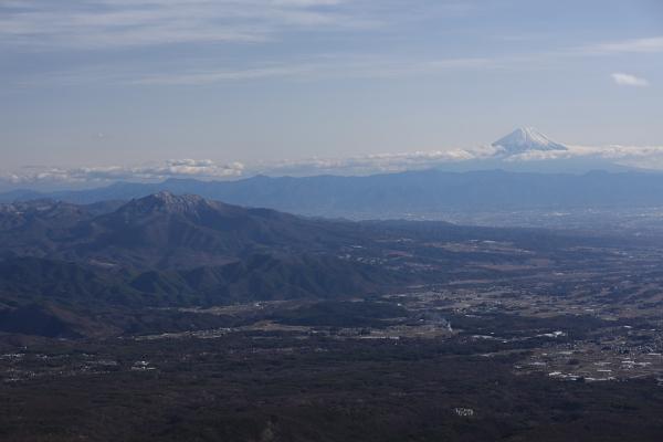 茅ヶ岳と富士