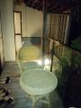 ベランダ、奥に客室用露店風呂
