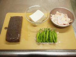 鶏皮蒟蒻獅子唐味噌炒め01