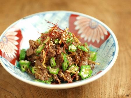 牛肉とおくらのしぐれ煮風43