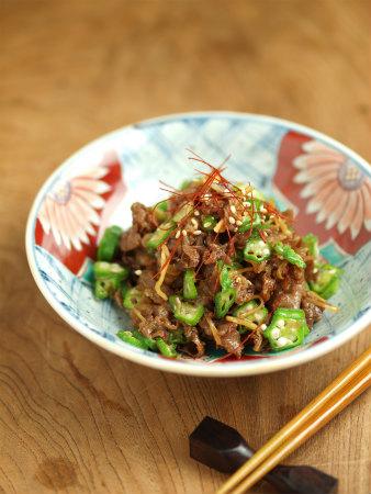 牛肉とおくらのしぐれ煮風45