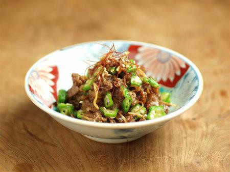 牛肉とおくらのしぐれ煮風32