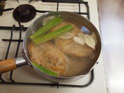蒸し鶏ごまマスタードソース08