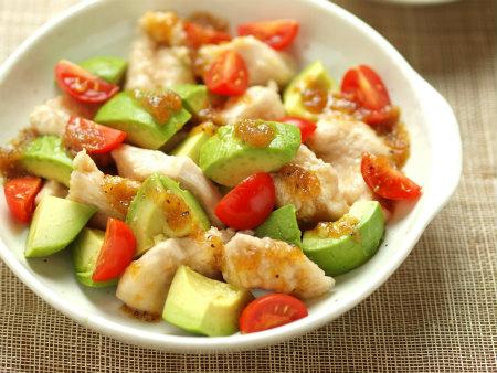 鶏むね肉とアボカドのサラダ風24
