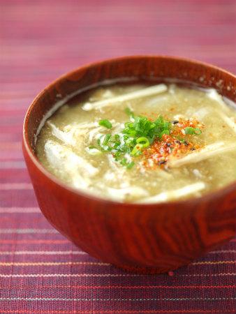 エノキと玉ねぎのさっと味噌汁11