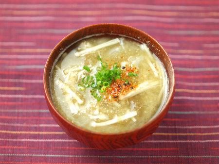 エノキと玉ねぎのさっと味噌汁13