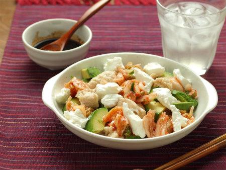 鶏むね肉とAkyのサラダ02