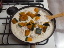 tフライパンでかぼちゃグラタン15