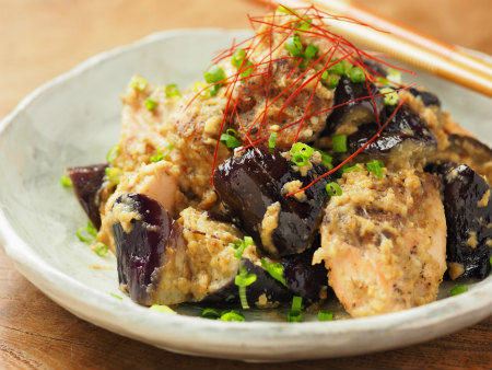 秋鮭となすのごま味噌炒め09