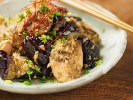 秋鮭となすのごま味噌炒め05