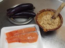 秋鮭となすのごま味噌炒め19