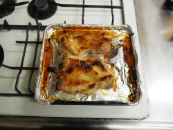 鶏もも肉のにんにく味噌焼き12