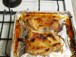 鶏もも肉のにんにく味噌焼き13