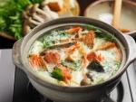 焼き甘塩鮭の豆乳鍋26